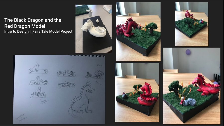 Intro to Design I Model Project: The Black Dragon and the Red Dragon (2019)