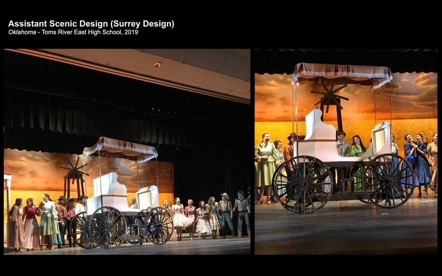 Surrey design and construction for a production of Oklahoma - Production Photos