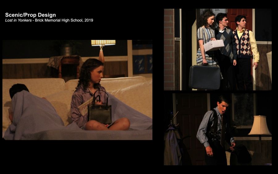 Scenic and prop design for a production of Lost in Yonkers -Production Photos
