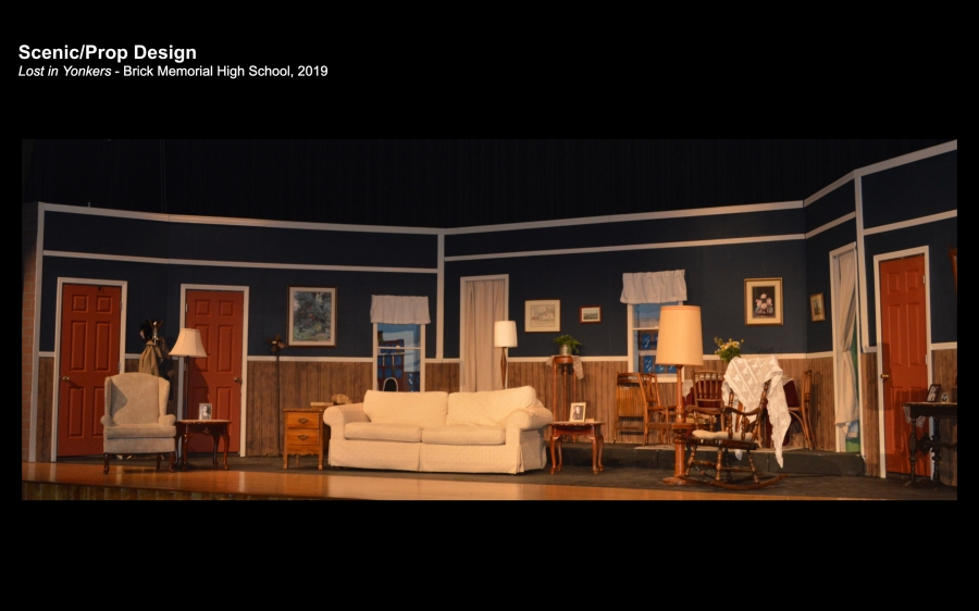 Scenic and prop design for a production of Lost in Yonkers -Full Set Photo