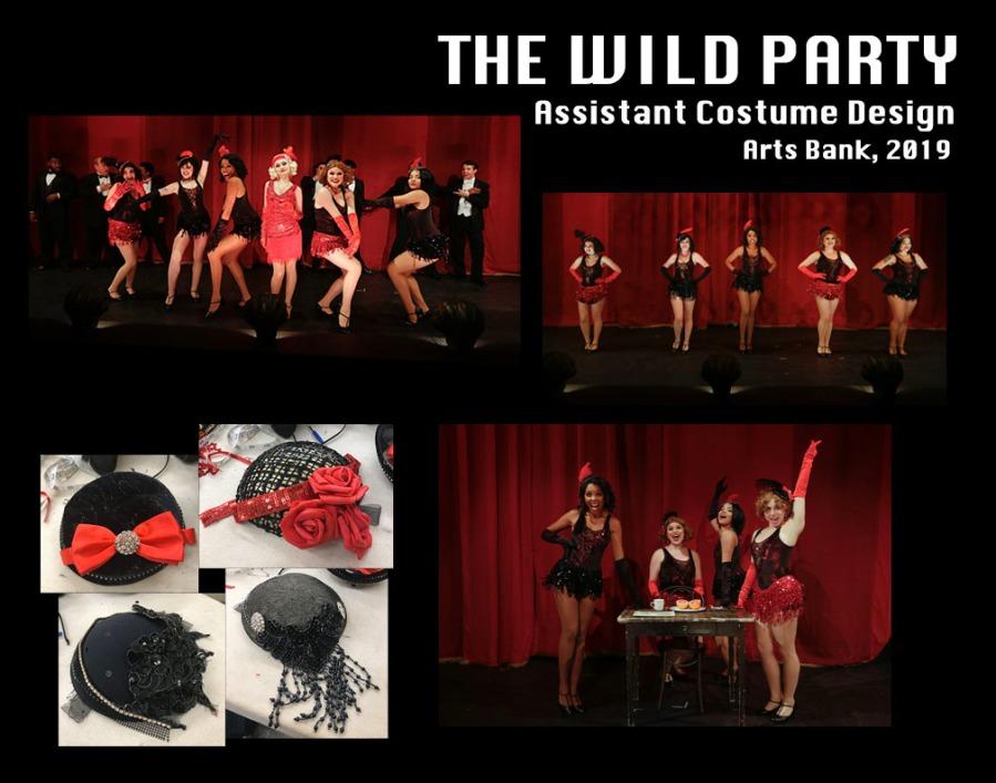 The Wild Party (2019, UArts) Director: Nell Bang-Jensen Costume: LeVonne Lindsay Asst. Costumes: Maura McLaughlin Set: Chris Haig Props: Jakob Kahler Lights: Mike Inwood