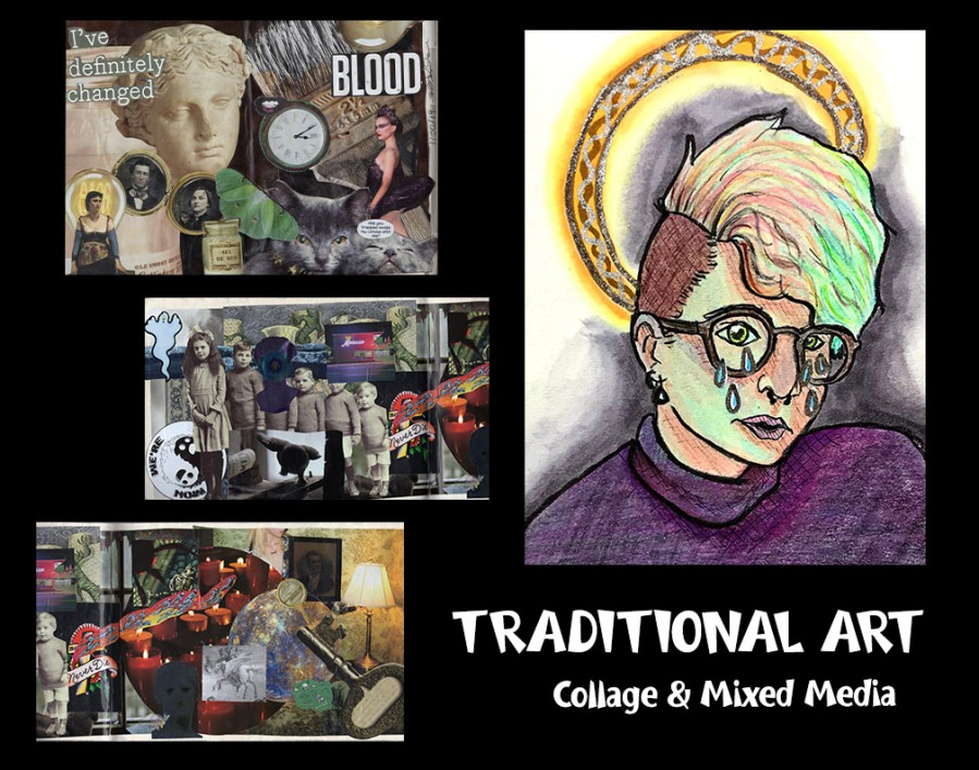 Traditional Art 2019-2020 Alcohol marker, mixed media