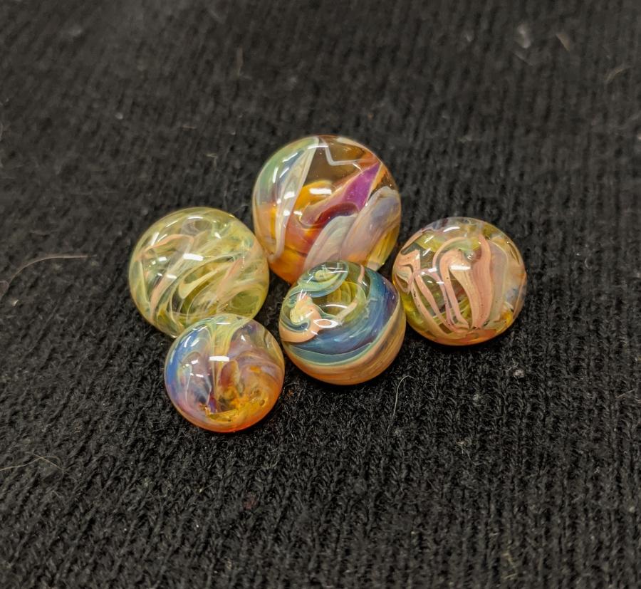 Lampwork borosilicate marbles