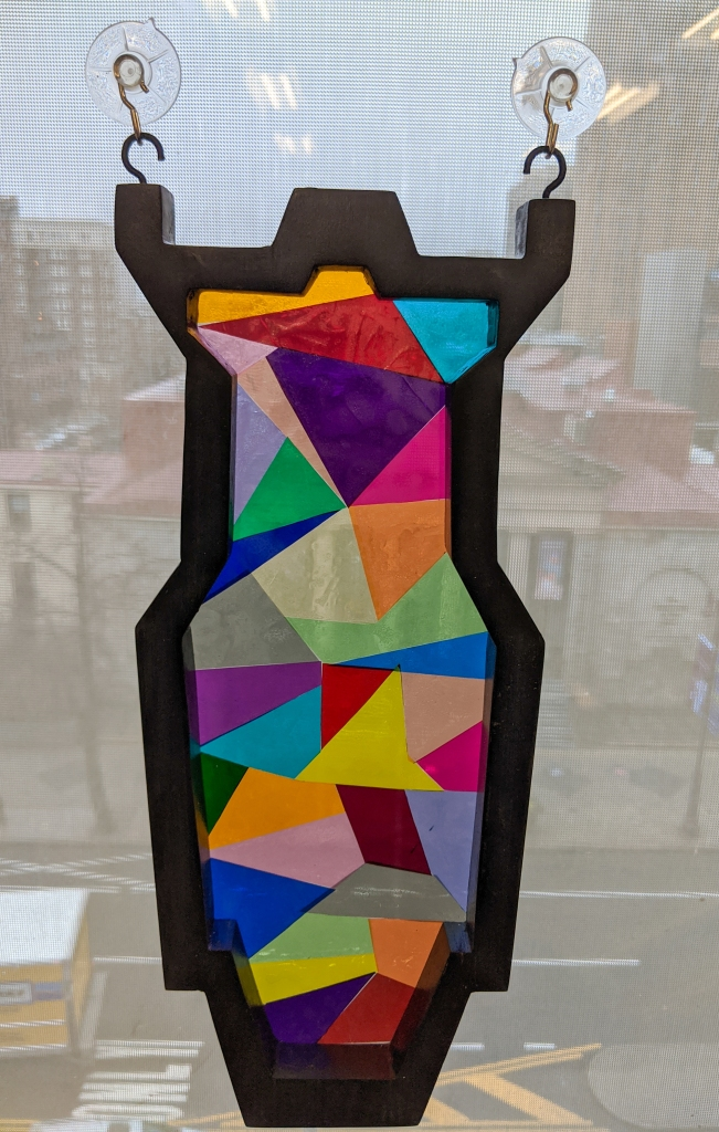 """Stained glass"" Leko frame. A poplar frame with lighting gel between two plexi sheets"